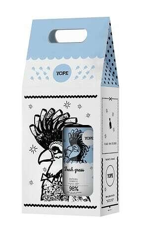 Подарочный набор Шампунь и кондиционер для жирных волос Свежая трава Yope