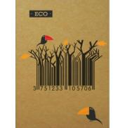 Блокнот штрихкод с ЭКО бумаги 96 листов А6 твердая обложка Мицар