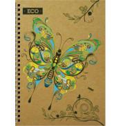 Блокнот бабочка с ЭКО бумаги 50 листов А5 твердая обложка Мицар