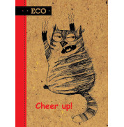 Блокнот Cheep Up с ЭКО бумаги 48 листов А6 твердая обложка Мицар