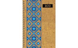 Блокнот вышиванка с ЭКО бумаги 80 листов А6 твердая обложка Мицар