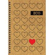 Блокнот Сердце с ЭКО бумаги 80 листов А6 твердая обложка Мицар