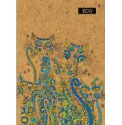 Блокнот коты с ЭКО бумаги 80 листов А4 твердая обложка Мицар