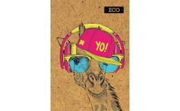 Блокнот жираф с ЭКО бумаги 160 листов А5 твердая обложка Мицар