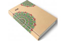 Дневник недатированный орнамент с ЭКО бумаги 192 листов А5 твердая обложка Мицар