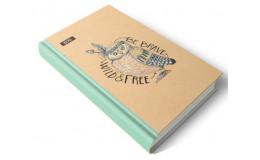 Дневник недатированный сова с ЭКО бумаги 192 листов А5 твердая обложка Мицар