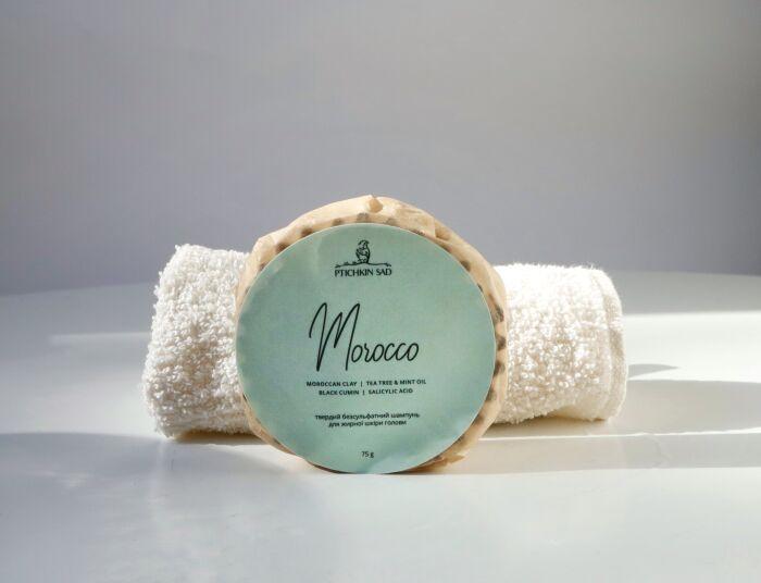 Шампунь твердый для жирной кожи головы Morocco Ptichkin sad 75г