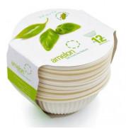 Биоразлагаемая одноразовая посуда Блюдечки Amelon 350 мл/диам.125мм