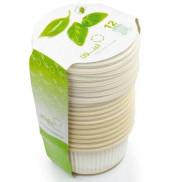 Биоразлагаемая одноразовая посуда Салатницы с крышками Amelon 300 мл/12 шт