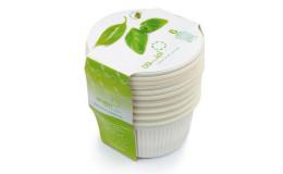 Биоразлагаемая одноразовая посуда Салатницы с крышками Amelon 550 мл/6 шт