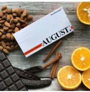 Шоколад на кэробе без сахара С апельсином и миндалём August 80 гр
