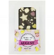 Шоколад на кэробе без сахара С медовой грушей и солёным попкорном August 100 гр