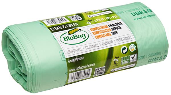 Пакеты для мусора биоразлагаемые рулон Bio Bag 20 л