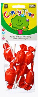 Конфета леденец на палочке Клубника Candy Tree 10 г