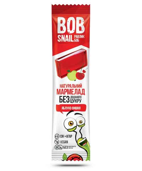 Мармелад без сахара яблоко-вишня Bob Snail 38 г