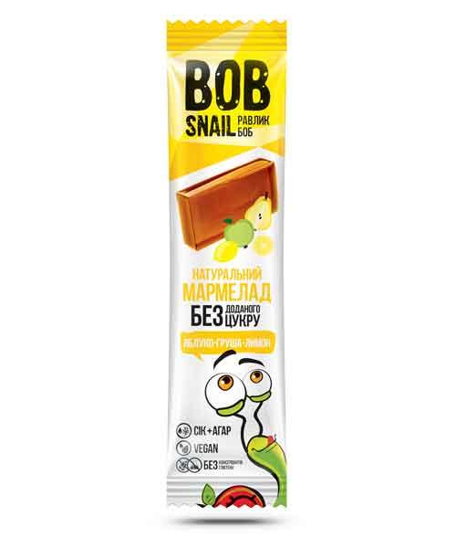 Мармелад без сахара яблоко-лимон-груша Bob Snail, 38 гр