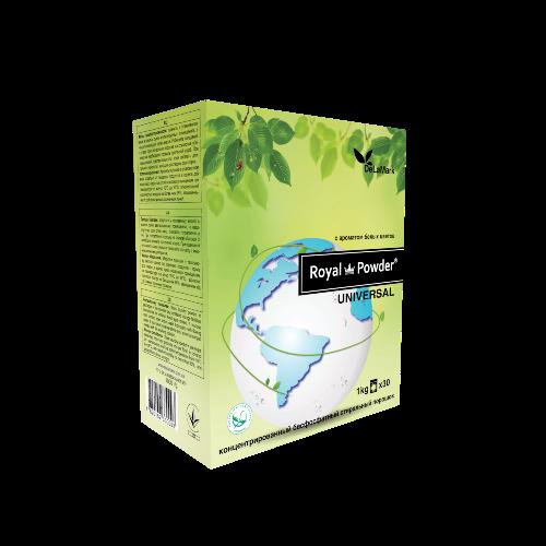 Порошок стиральный универсальный с запахом белых цветов (Royal Powder) DeLaMark 1 кг