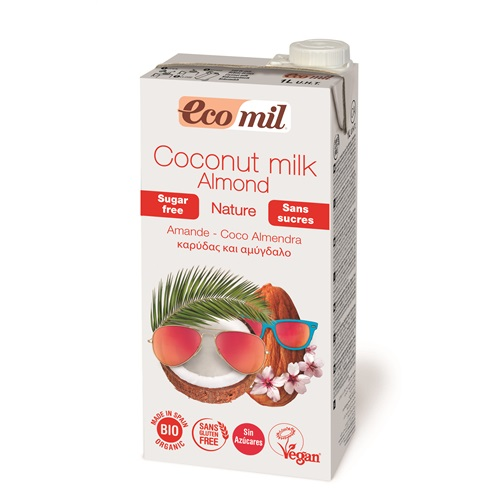 Молоко кокосовое с миндалем без сахара EcoMil 1 л