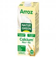 Молоко рисовое с кальцием без сахара NaturGreen 1л