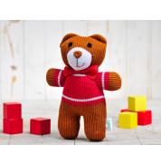 Игрушка вязанная медвежонок Мишутка Фрея