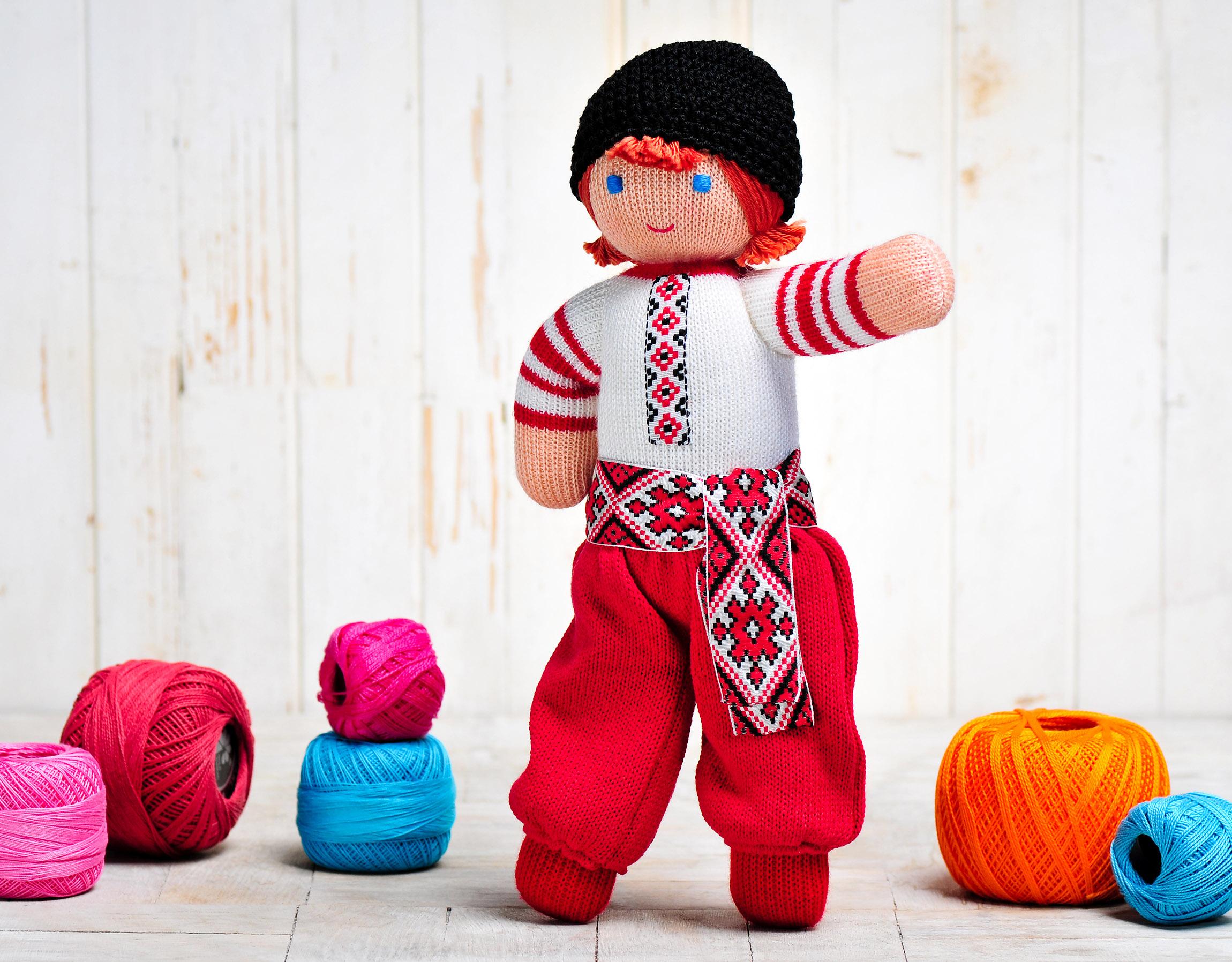Игрушка вязанная кукла Ивасык Фрея