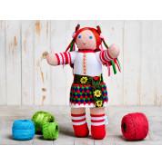 Игрушка вязанная кукла Ганнуся Фрея