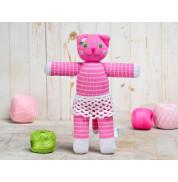Игрушка вязанная кошка Алиса Фрея