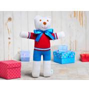 Игрушка вязанная медвежонок Умка Фрея
