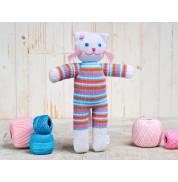 Игрушка вязанная кошка Люся Фрея