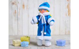 Игрушка вязанная кукла Снегурочка Фрея