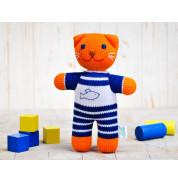 Игрушка вязанная кот Рыжик Фрея