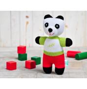 Игрушка вязанная панда Бамбук Фрея