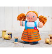 Игрушка вязанная кукла Девочка Фрея