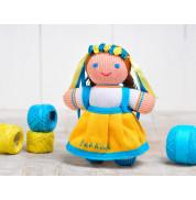 Игрушка вязанная кукла Девочка Украиночка Фрея