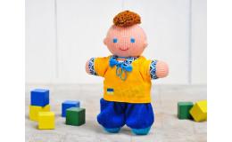 Игрушка вязанная кукла Мальчик Козачок Фрея