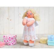 Игрушка вязанная кукла Ангелочек Фрея
