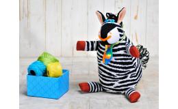 Игрушка вязанная зебра Жорик Фрея