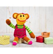 Игрушка вязанная обезьянка Девочка Фрея