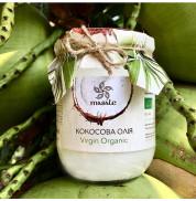 Кокосовое масло пищевое Organic Virgin (стеклянная банка) Masale (Green Valley)