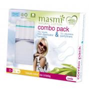 Набор комбо 12 тампонов Regular без апликатора + 12 ежедневных прокладок Мультиформ Masmi