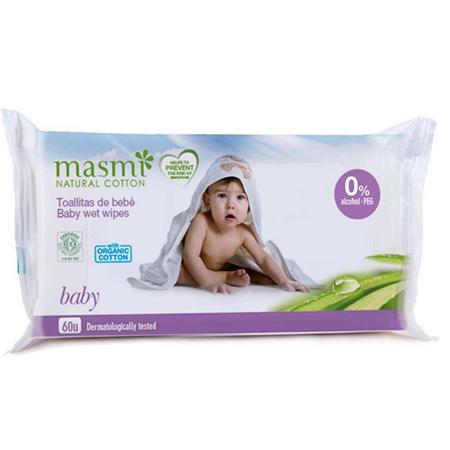 Детские влажные салфетки очищающие Masmi 60 шт.