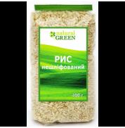 Рис коричневый нешлифованый Natural Green 400 г