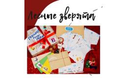 Набор подарочный детский Новогодняя квест-игра «Посылка Деда Мороза.Лесные зверята»