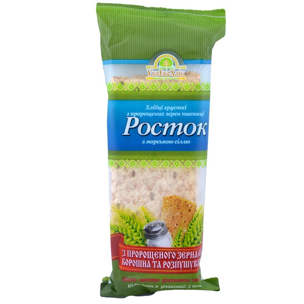 Хлебцы с морской солью Росток УкрЭкоХлеб 120 г