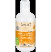 Шампунь Апельсин и кокос Блеск и объем для всей семьи Sante