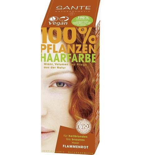 Краска порошок для волос растительная Красное пламя/Flame Red, Sante 100мл