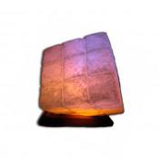 Соляная лампа Куб цветная лампочка Соледар 5 - 7 кг
