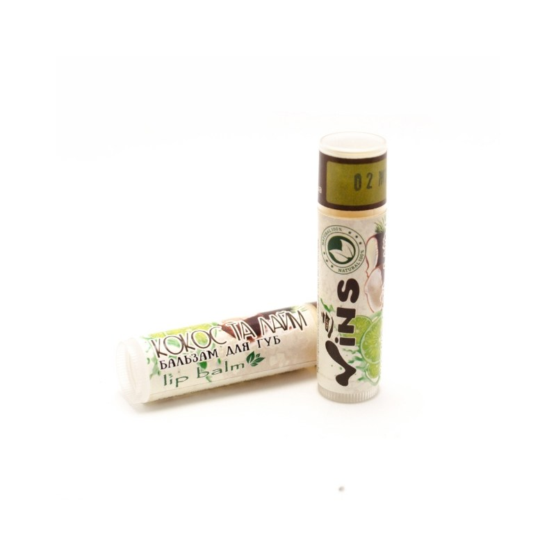 Бальзам для губ Кокос и лайм Vins 4,5 г