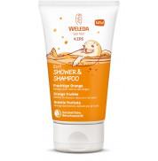 Детский шампунь-гель для тела и волос Апельсин Weleda 150 мл