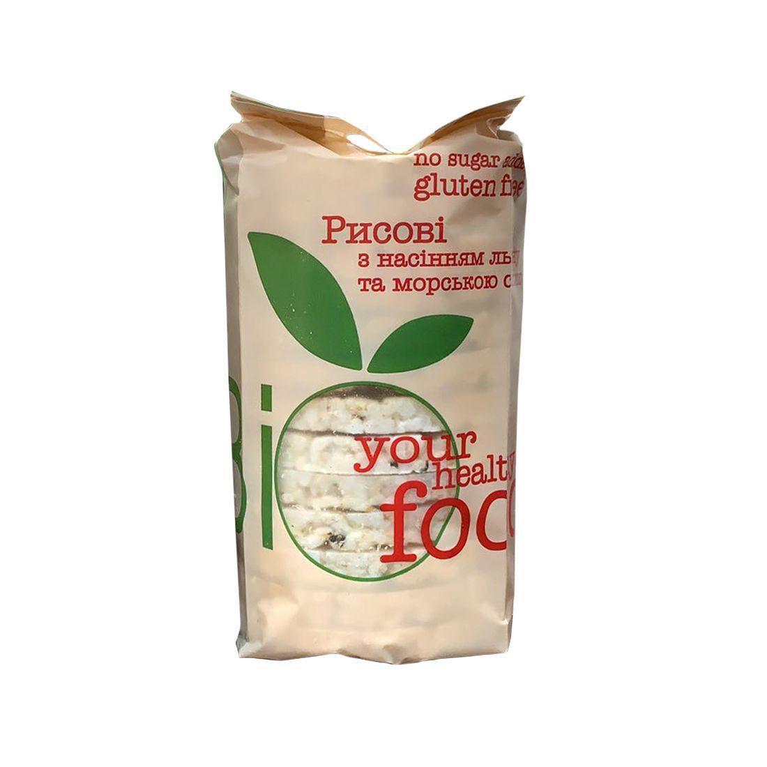 Хлебцы рисовые со льном безглютеновые Bifood 100 г